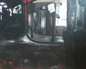 By night, another street, acrylique sur toile, 2014