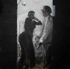 By night, danse, acrylique sur toile
