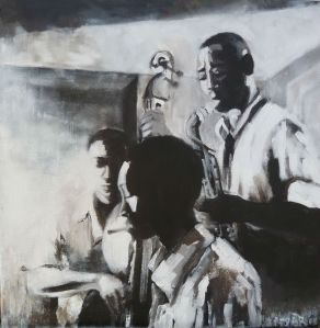 by night, jazz, acrylique sur toile