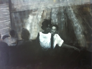 By night, couple,  acrylique sur toile, 2013